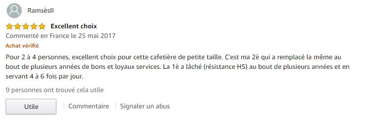 Moulinex FG150813 Subito avis clients